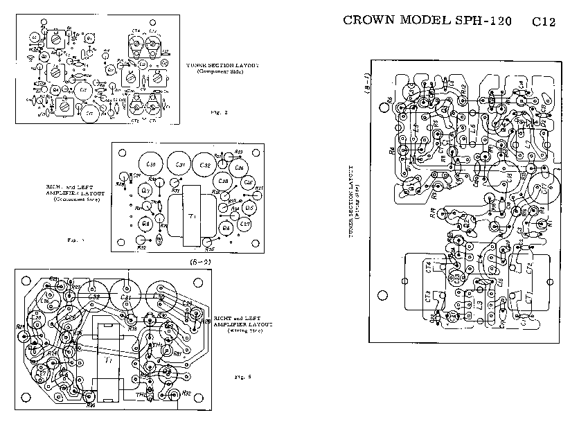 CROWN SPH-120 SM Service Manual download, schematics