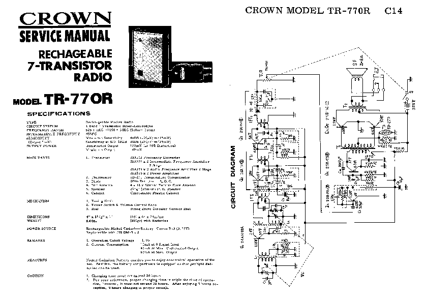 CROWN CTS4200A Service Manual free download, schematics