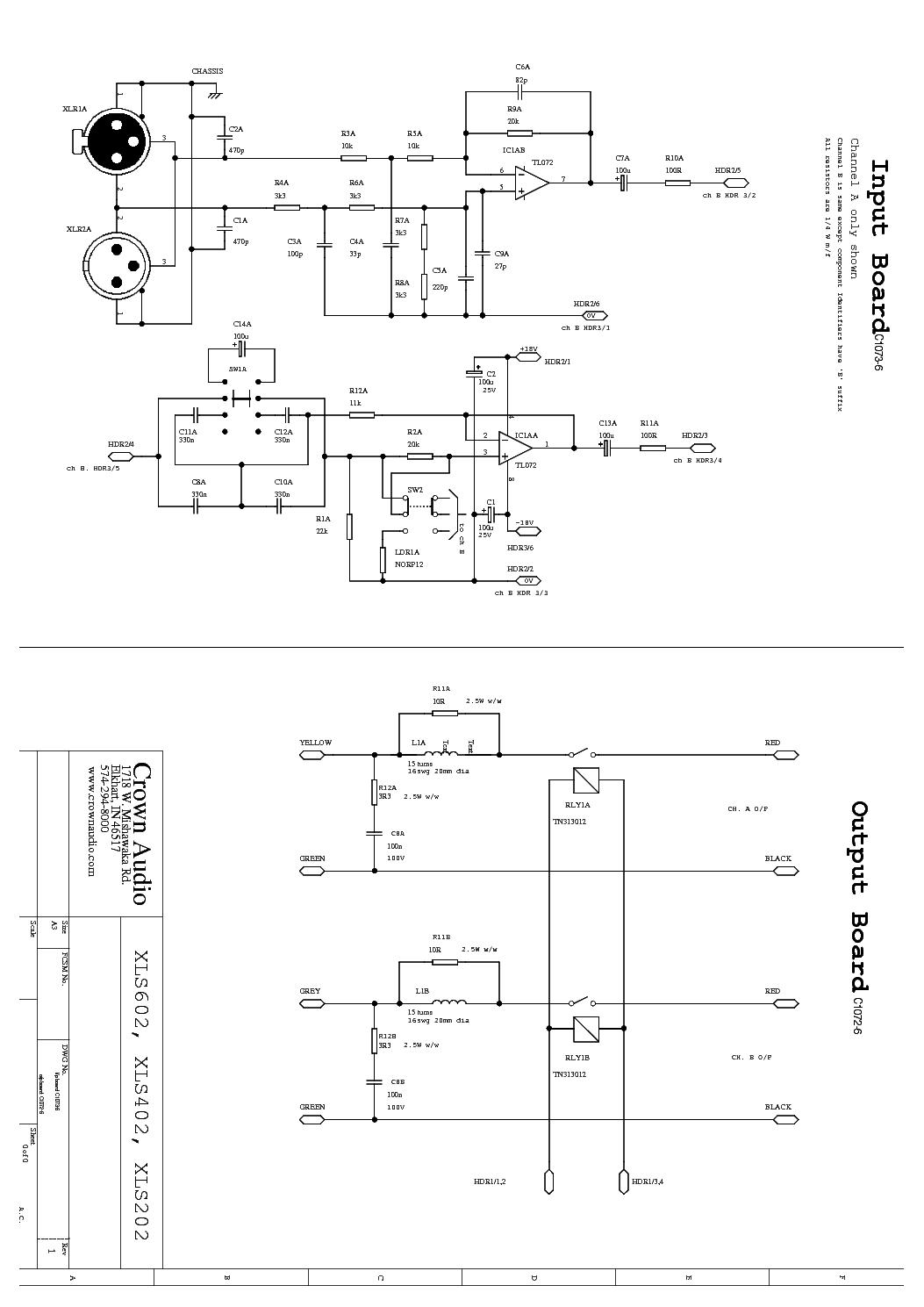 hight resolution of crown xls202 xls402 xls602 sch 1 service manual 2nd page