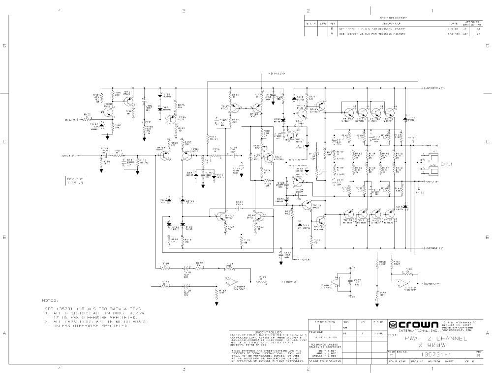 medium resolution of crown amp schematic wiring diagram fascinatingcrown d 150a ii power amplifier sm service manual download crown