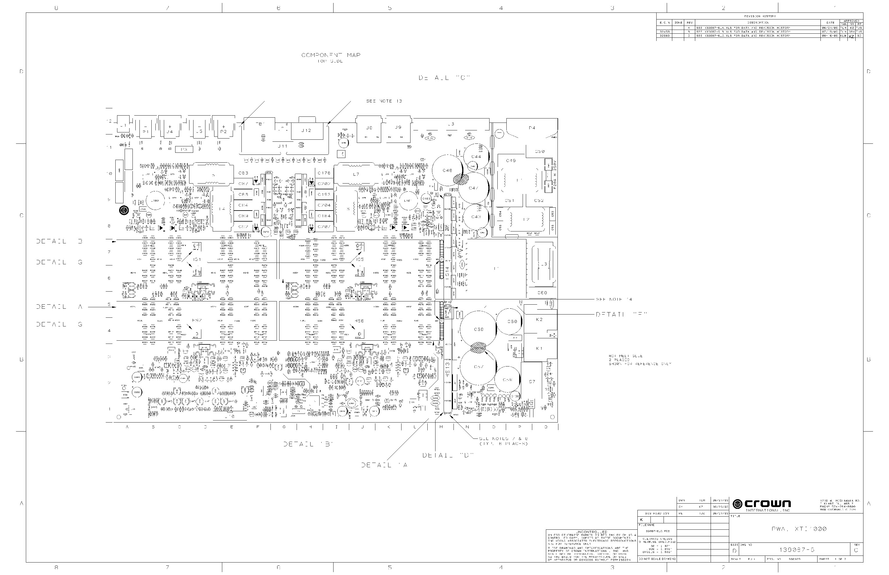 CROWN XTI1000 SCH Service Manual download, schematics