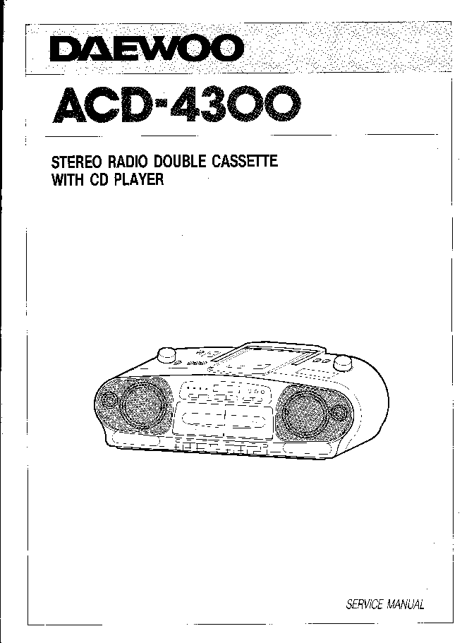 DAEWOO ACD-4300 Service Manual download, schematics, eeprom, repair info for electronics experts