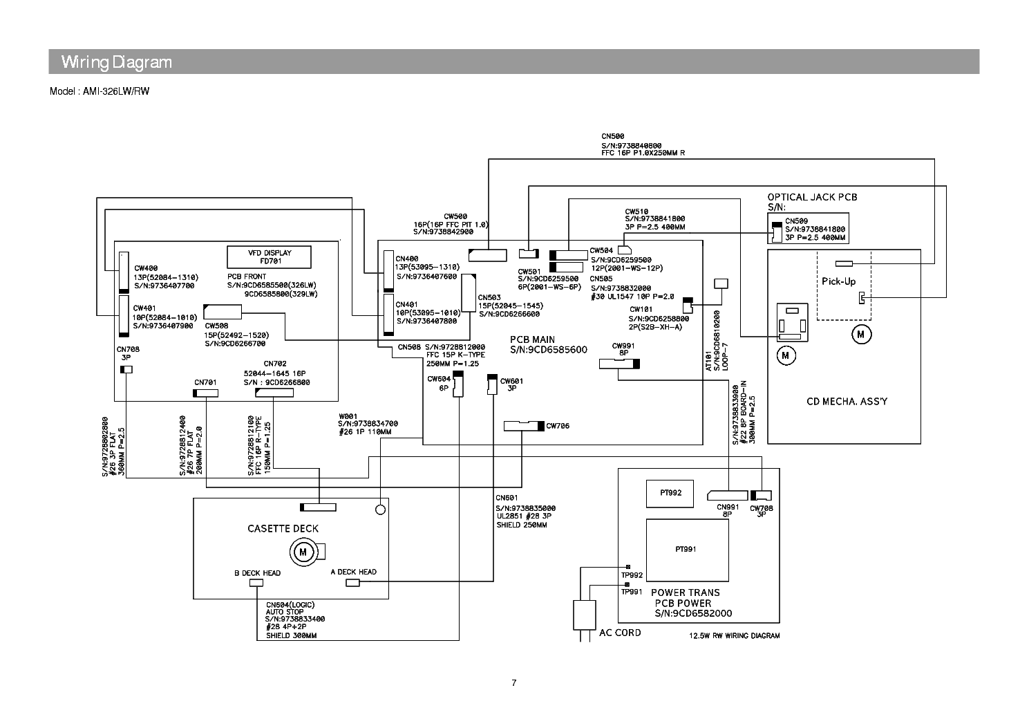 DAEWOO AMI-326,726,826 Service Manual download, schematics