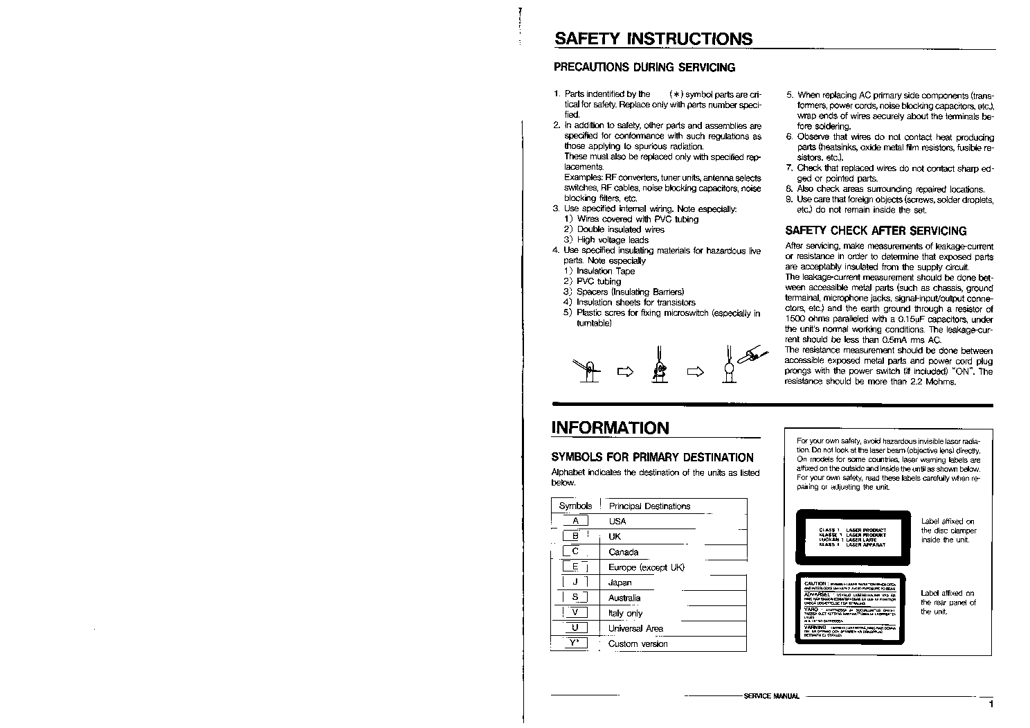 DAEWOO AMI-940,-940A,-940T,-940D,-940CD Service Manual