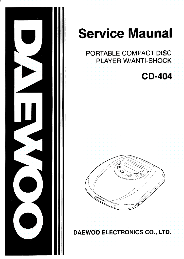 DAEWOO XM-111E Service Manual download, schematics, eeprom