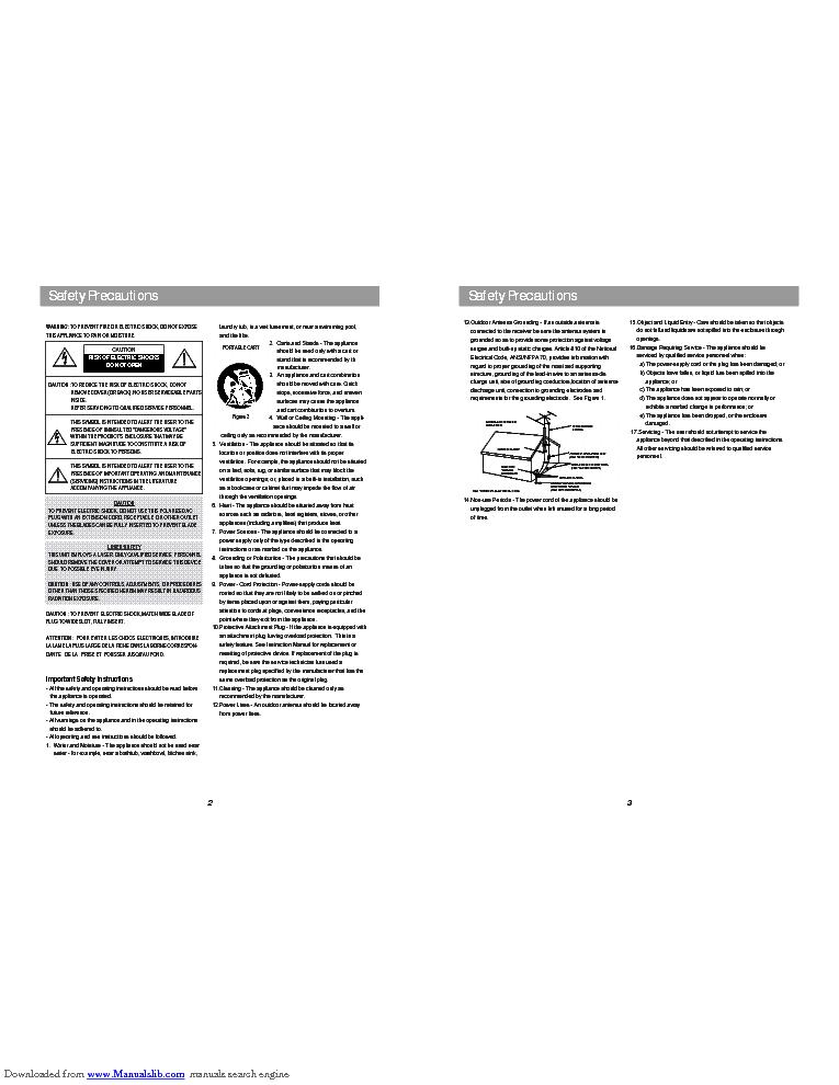 DAEWOO XG-318 Service Manual download, schematics, eeprom