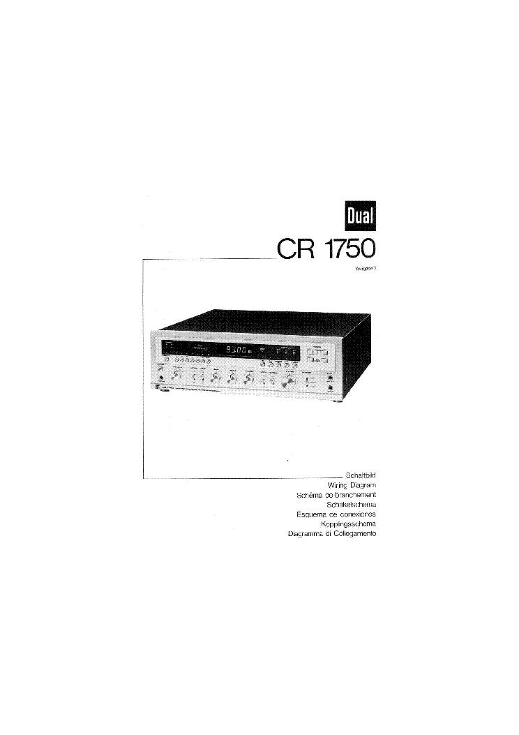 DUAL CR-1750 SC Service Manual download, schematics