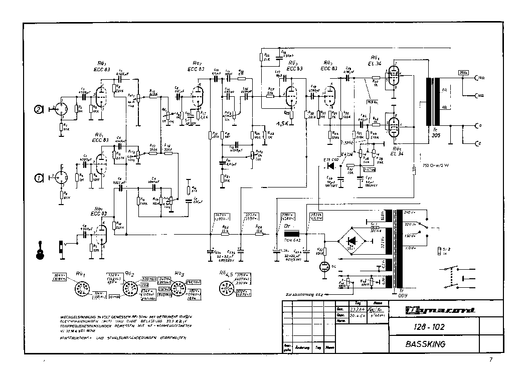 DYNACORD COBRA-SUB Service Manual download, schematics