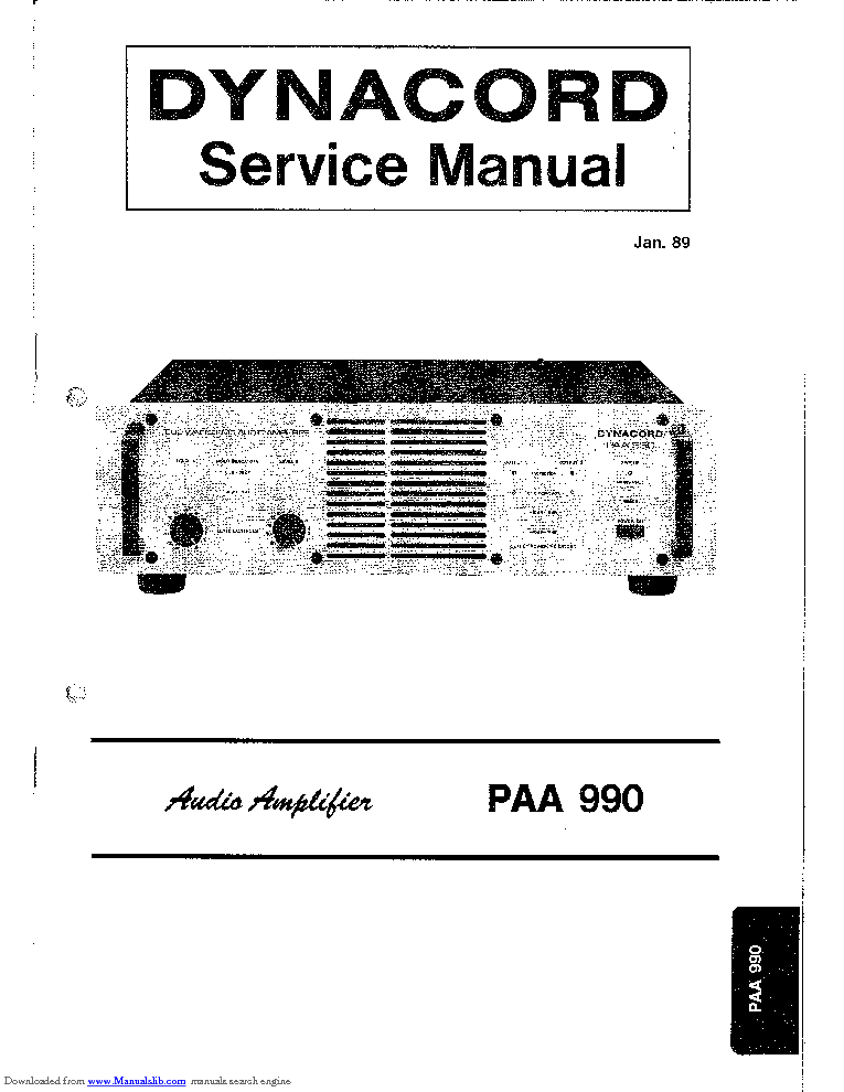 DYNACORD EMINENT 100A SM Service Manual download