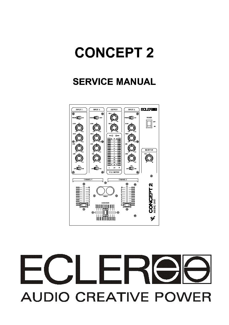 ECLER CONCEPT-2 MIXER SERVICE MANUAL Service Manual