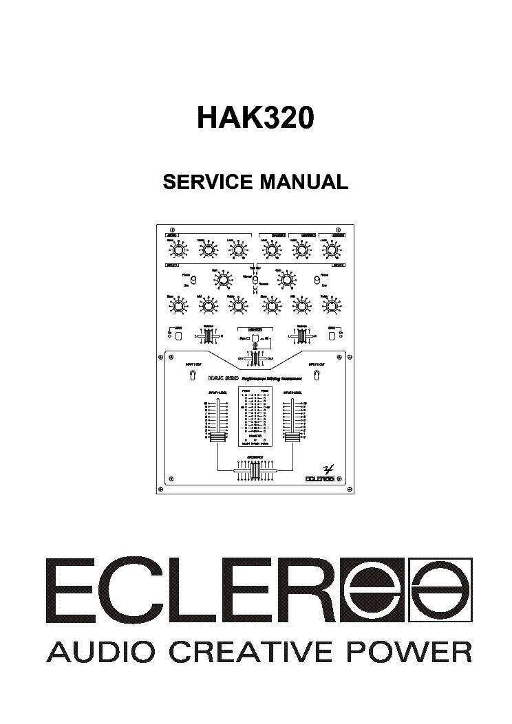 ECLER DT4800 DT6800 AMPLIFIER SERVICE MANUAL Service
