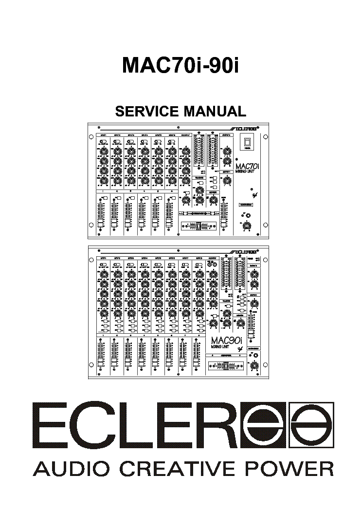 ECLER PAM2600 2000 SM Service Manual free download