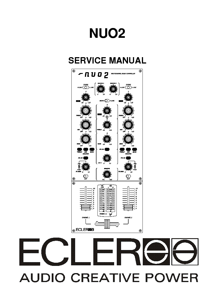 ECLER NUO2 CONTROLLER Service Manual download, schematics