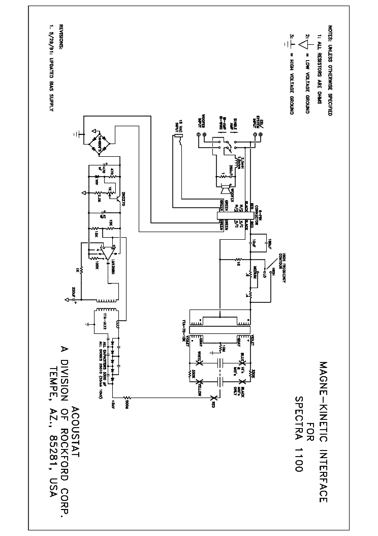 ACOUSTAT SPECTRA 1100 SCH Service Manual download