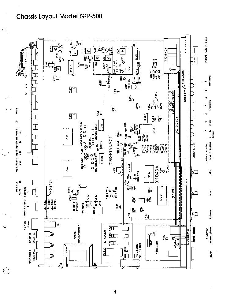 ADCOM GTP-500 SM Service Manual download, schematics