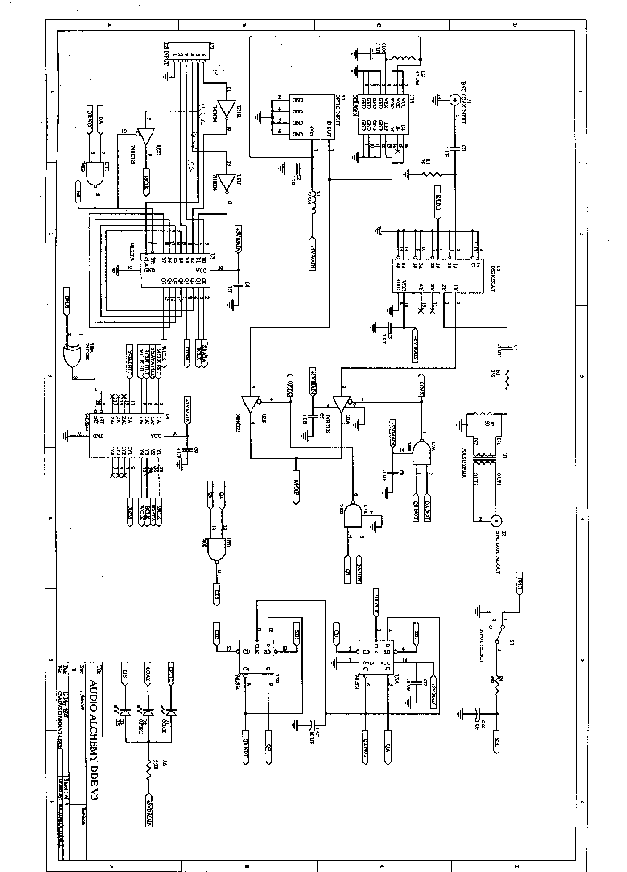 ALCHEMY DAC-20 DDE 3 Service Manual download, schematics
