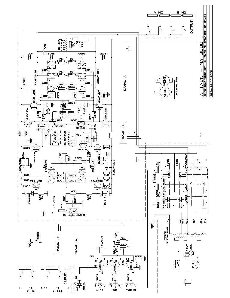 ATTACK MA-3000 SCH Service Manual download, schematics