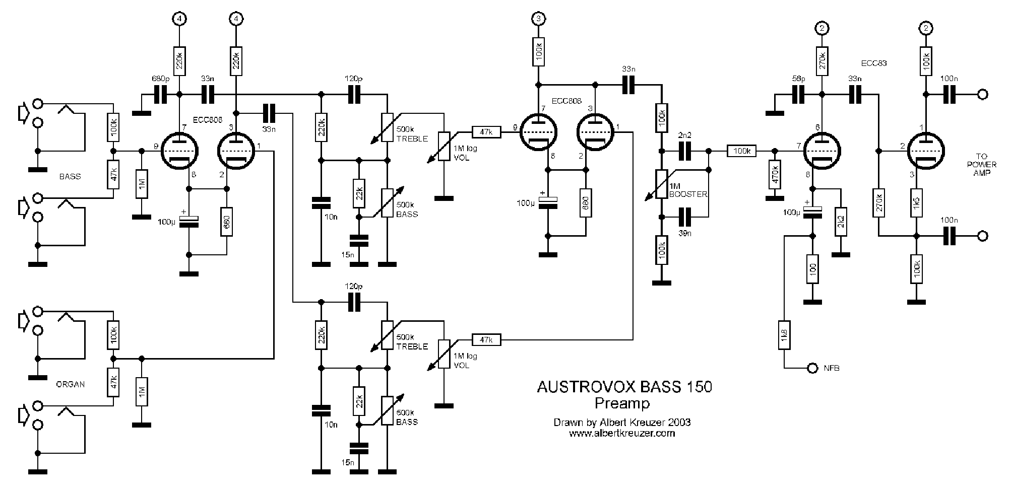 AUSTROVOX BASS 150 PREAMP 2003 SCH Service Manual download