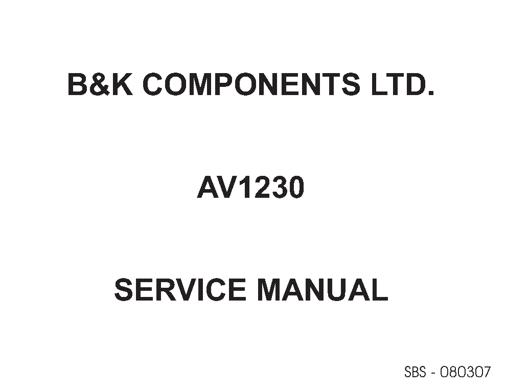 BK CT MINI-STEP Service Manual download, schematics