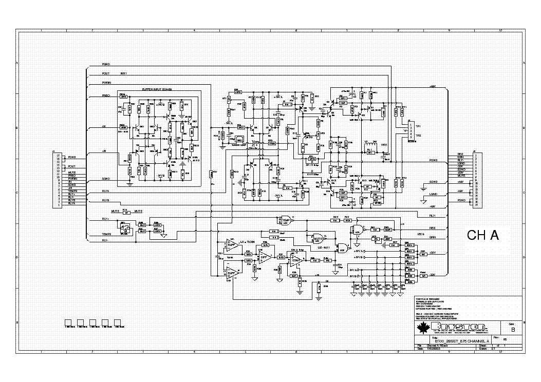 BRYSTON B60R SCH Service Manual download, schematics