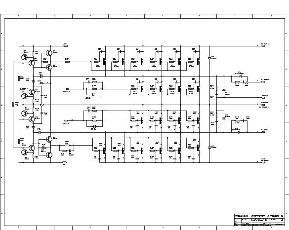 C AUDIO RA 4001 Service Manual download, schematics