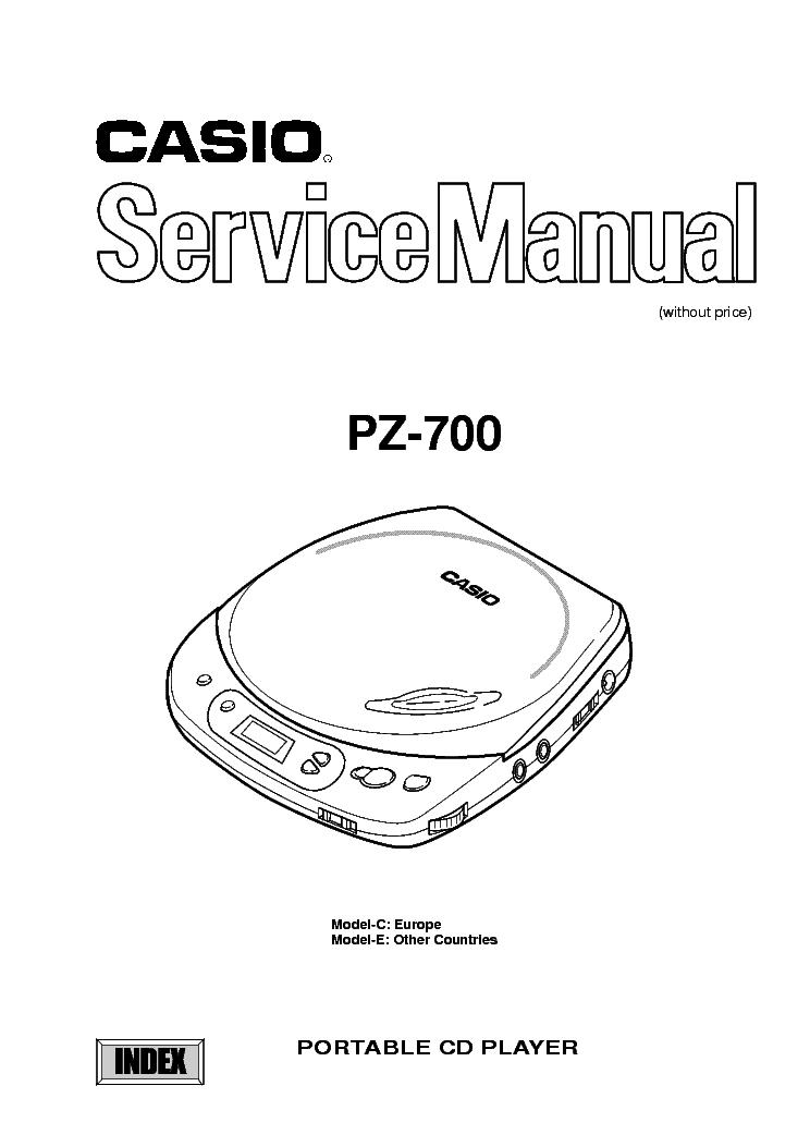 CASIO CD370S Service Manual free download, schematics