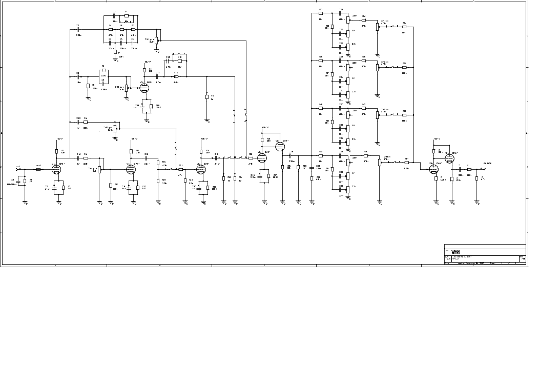 DIEZEL VH4 PREAMP SCH Service Manual download, schematics