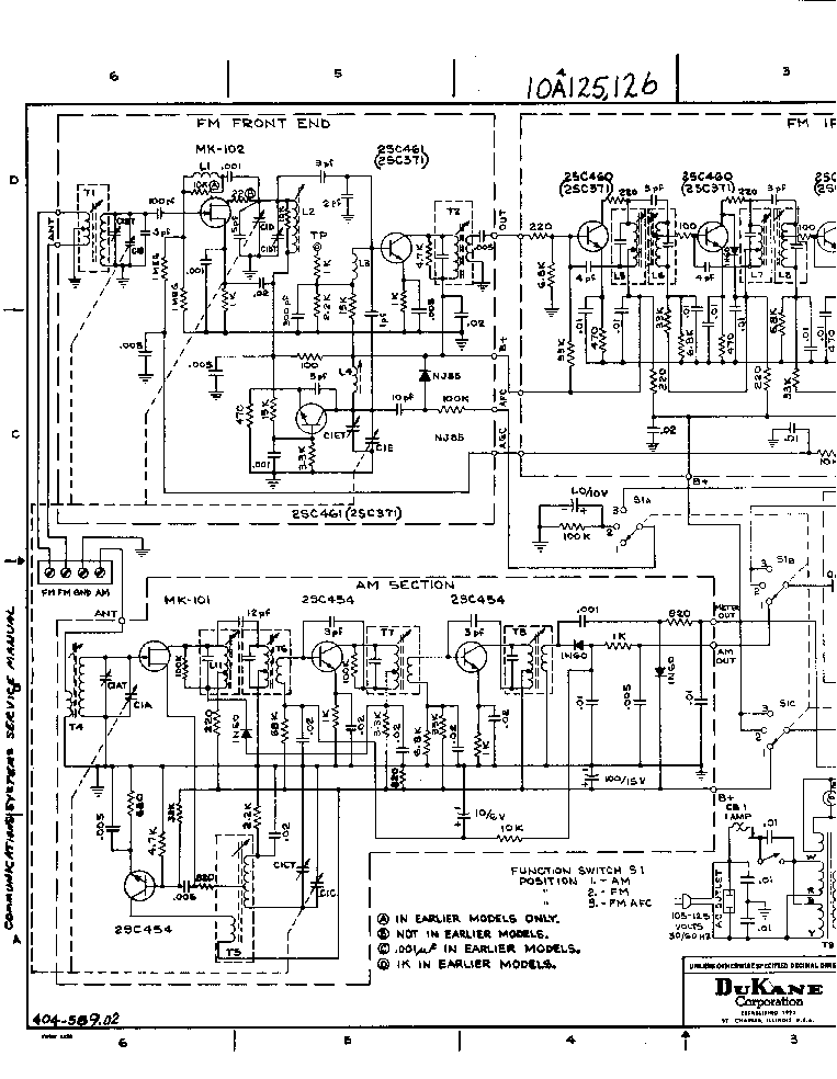 DUKANE 10A125 10A126 SCH Service Manual download