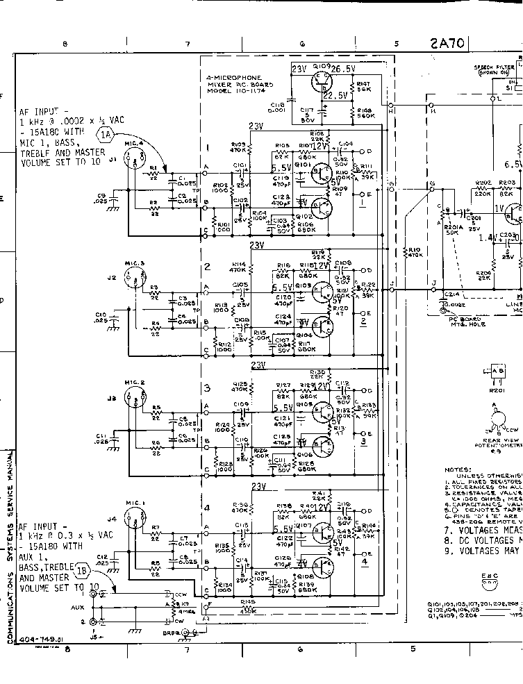 DUKANE 2A70 SCH Service Manual download, schematics