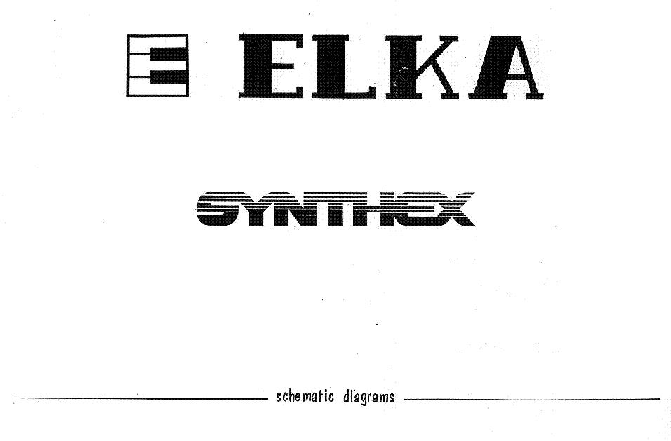 ELKA SYNTHEX SCH Service Manual download, schematics