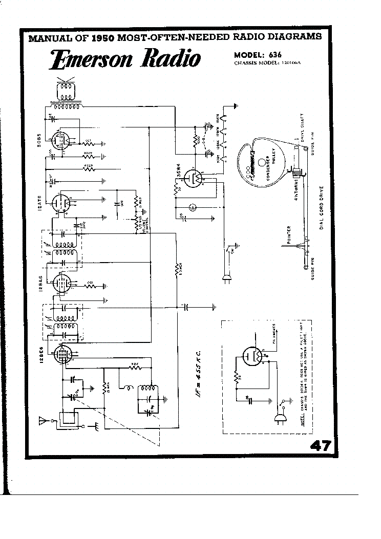EMERSON 558 BATTERY RADIO 1948 SCH Service Manual download