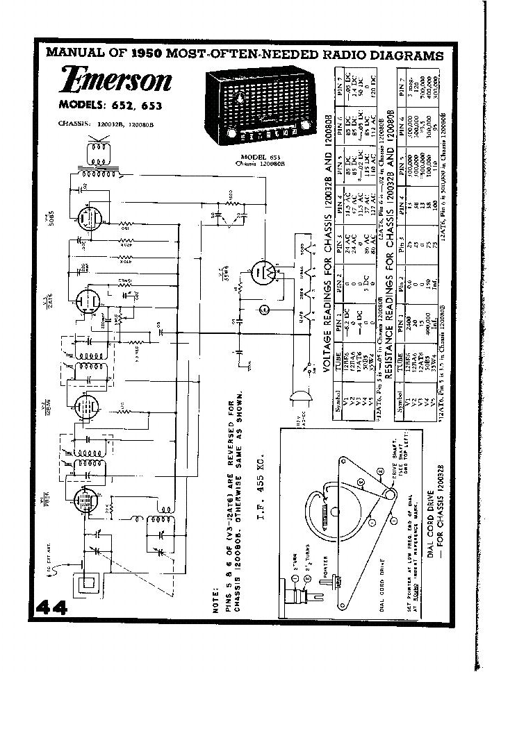 EMERSON 652 653 SCH Service Manual download, schematics