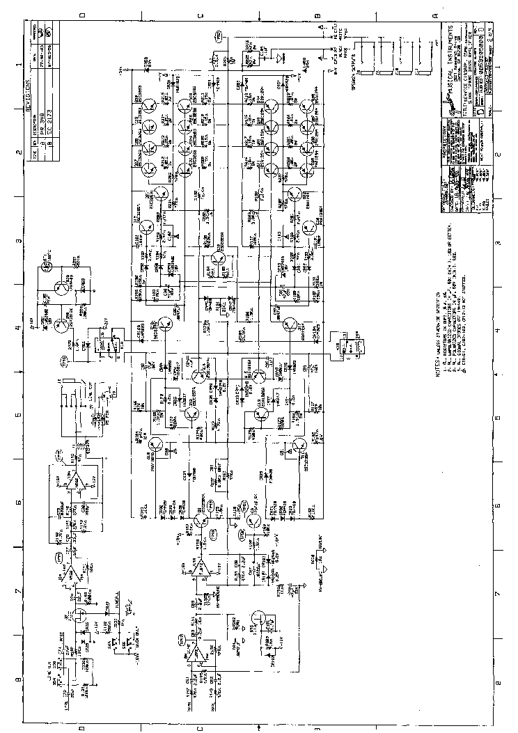 FENDER BASSMAN 250 FBA SCHEMATIC REV-A Service Manual