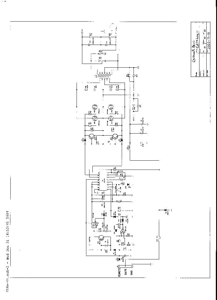 GROUND-ZERO GZTA-4000T SCH Service Manual download