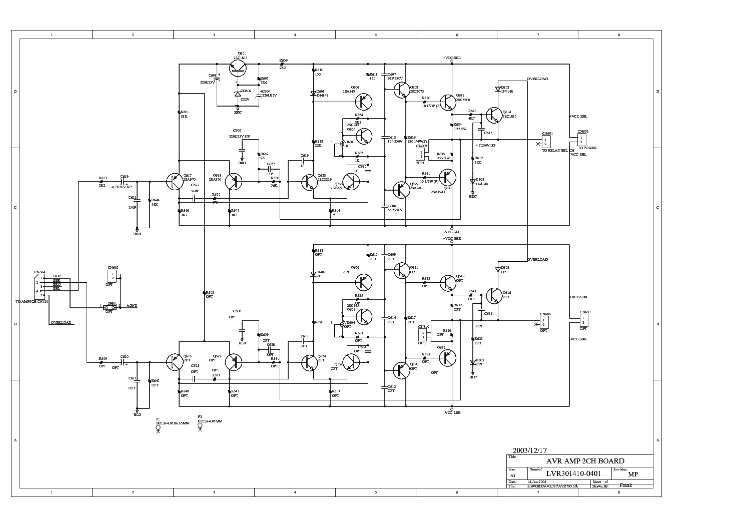 JAMO SW 400E SCH Service Manual download, schematics