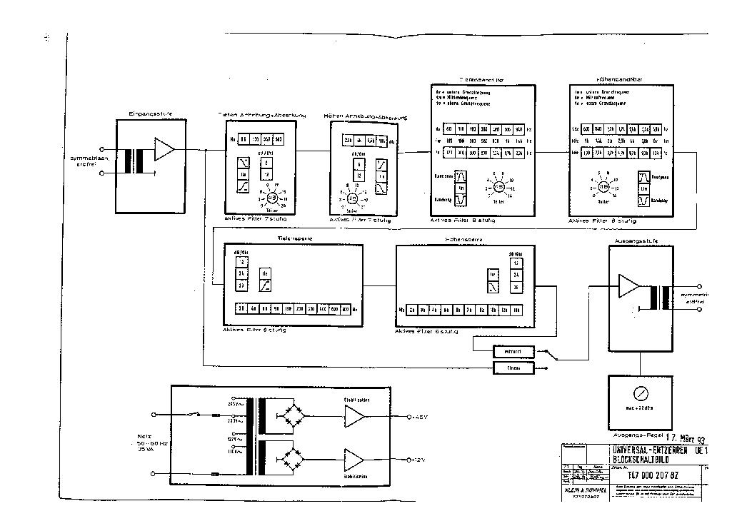 KLEIN-HUMMEL UE-1000 SCH Service Manual download