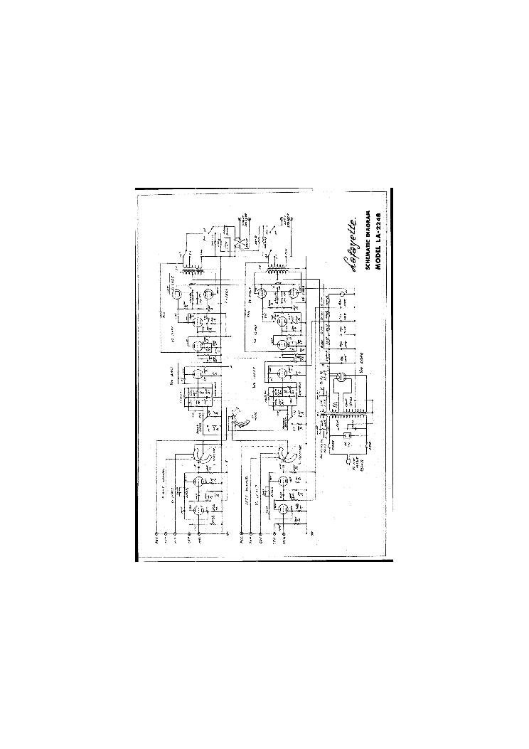 LAFAYETTE KT-250-A KIT AMPLIFIER SCH Service Manual