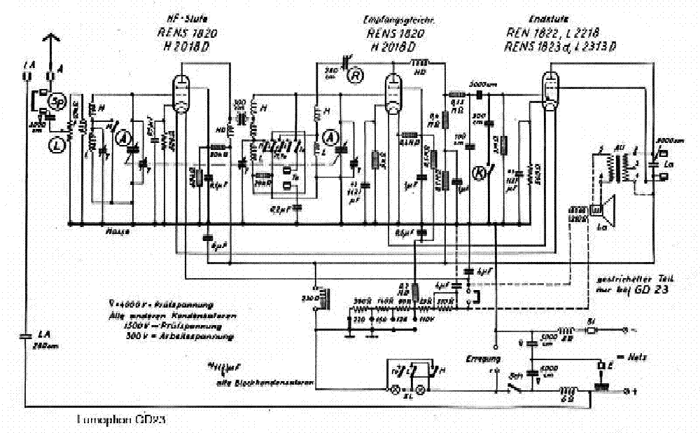 LUMOPHON GD23 Service Manual download, schematics, eeprom
