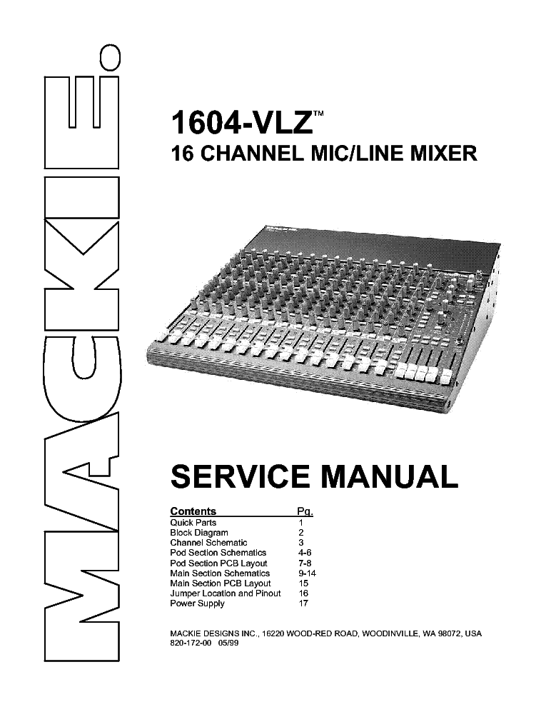 MACKIE SRM-350 Service Manual download, schematics, eeprom