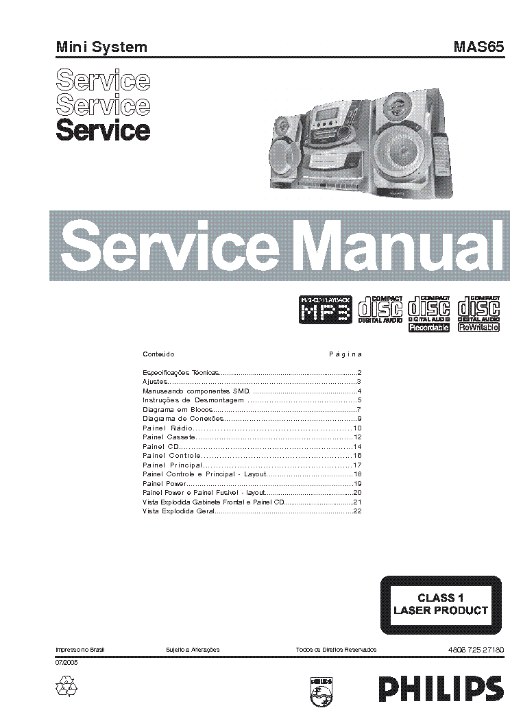 MAGNAVOX MAS65 Service Manual download, schematics, eeprom
