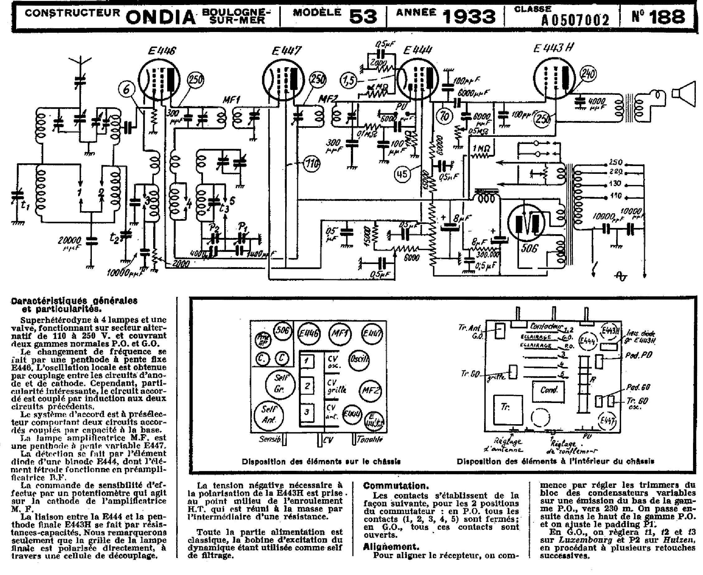 ONDIA 201 RADIO 1938 SCH Service Manual free download