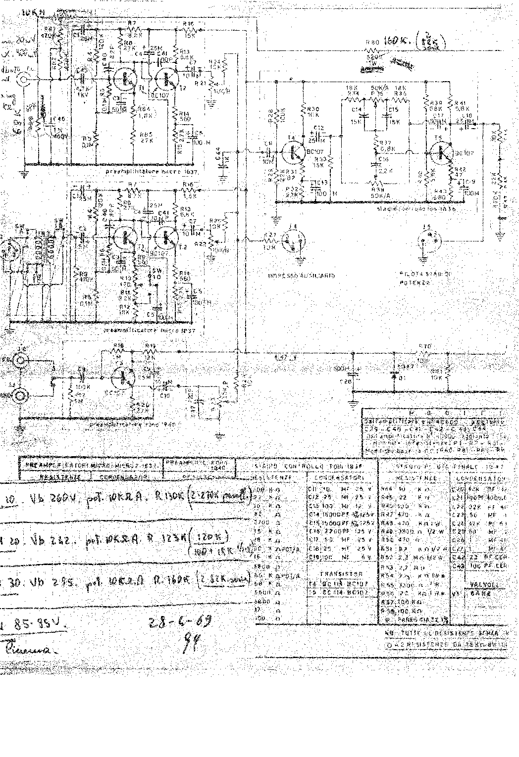 RCF AM-30 SCH Service Manual download, schematics, eeprom