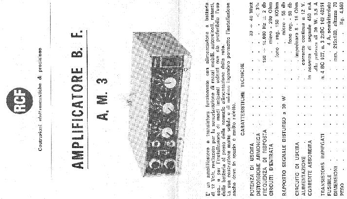 RCF AM3 SCH Service Manual download, schematics, eeprom