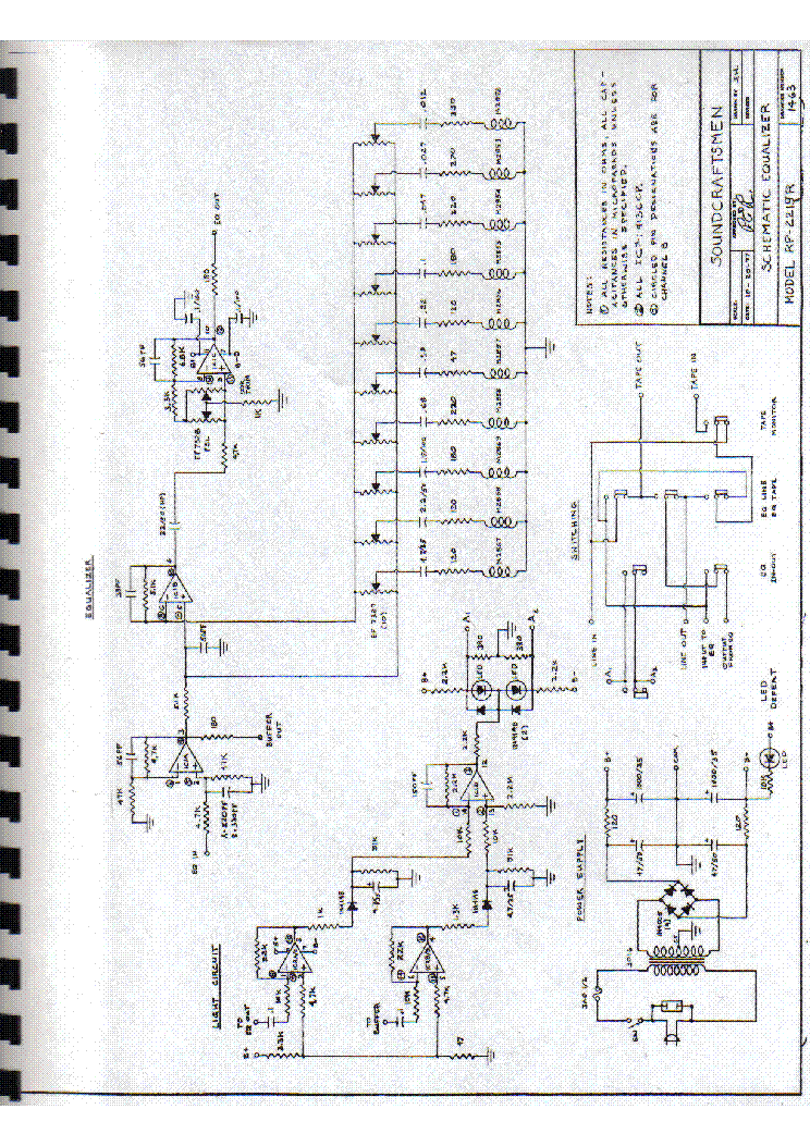 SOUNDCRAFTSMEN PA-5001 AMPLIFIER 1978 SCH Service Manual