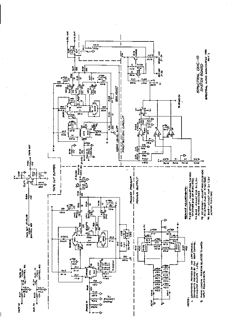 SPECTRAL DMC10 SCH Service Manual download, schematics