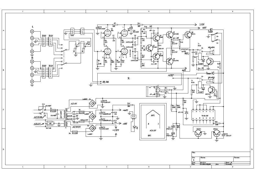 YAQIN MC10L AUDIO AMPLIFIER SCH Service Manual download