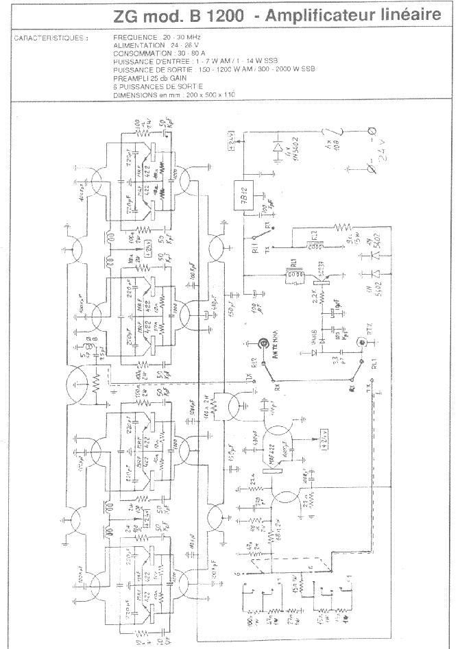 ZETAGI B1200 Service Manual download, schematics, eeprom