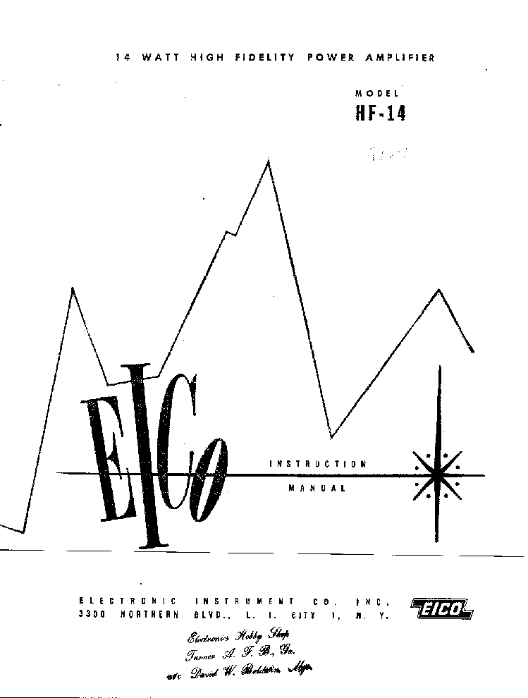 EICO HF14 Service Manual download, schematics, eeprom