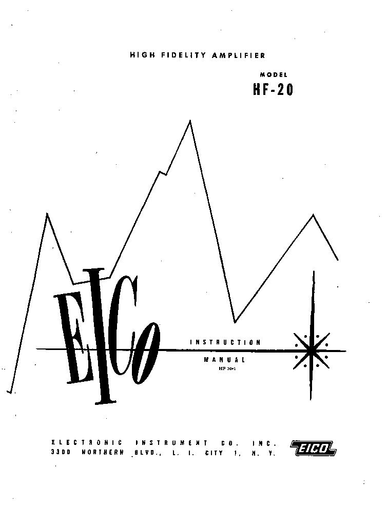 EICO HF20 Service Manual download, schematics, eeprom