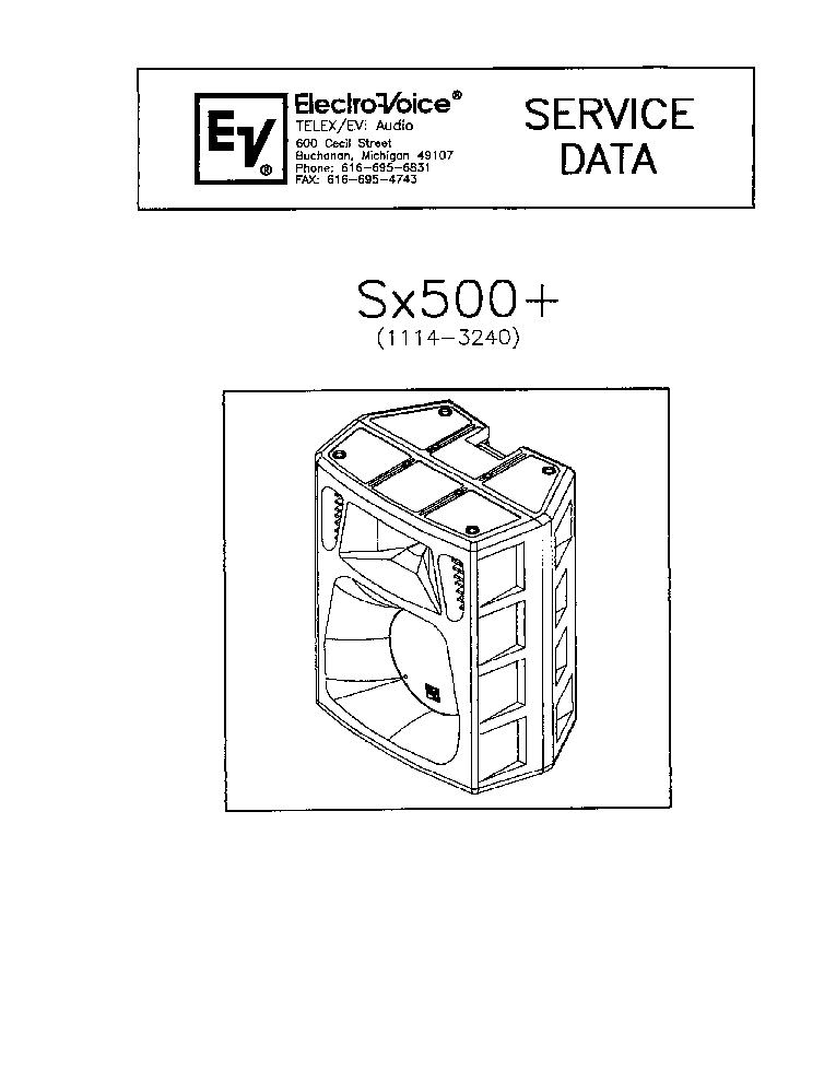 ELECTRO-VOICE EVID C8.2LP Service Manual free download